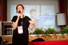 Nicole Ebber at Wikimania 2016 Esino Lario (Sebastiaan ter Burg) Tags: italy mountain community village open free event knowledge wikipedia conference wikimania esinolario