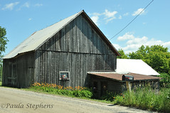 Wooden Barn (Paula Stephens) Tags: building barn rural vermont farm country newengland landmark structure historic agriculture vt