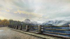 VOEC - 038 (Screenshotgraphy) Tags: sunset sky mountain lake game nature colors architecture clouds contrast montagne landscape pc screenshot lumire couleurs country lac ethan steam gaming ciel beaut carter concept nuages paysage vanishing campagne beautifull jeu naturelle urbain