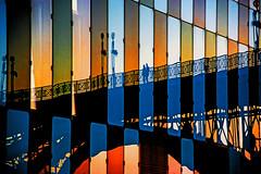 Two pedestrians on the Old Bridge (Matja Skrinar) Tags: 100v10f