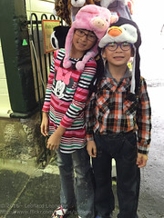Trying funny hats (Stinkee Beek) Tags: erin ethan fremantle