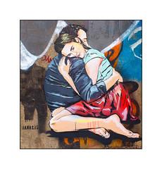 Graffiti (Jana & JS), East London, England. (Joseph O'Malley64) Tags: uk greatbritain england streetart london love wall graffiti mural paint britain render romance spray romantic british walls cans cracks aerosol embrace tenderness eastend eastlondon muralists janajs