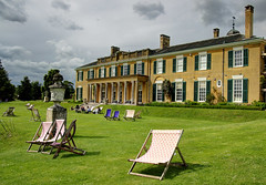 Polesden Lacey (Raphooey) Tags: uk england house home grass canon eos deckchair chairs terrace south columns lawn surrey east deck national trust gb column lacey southeast dorking deckchairs stately polesden 70d