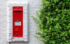 """Cherry & Lime"" (-Mark Bean-) Tags: uk red england white house plant man color colour brick green english church leaves wall contrast leaf bush colorful post mail box bricks royal structure minimal foliage hedge end letter postbox delivery postal letterbox colourful package hertfordshire redbourn brickwork postman hedgerow"