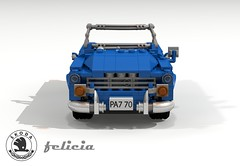 Skoda Felicia - 1959 - Czechoslovakia (lego911) Tags: auto classic car felicia spider model lego render convertible communist challenge czechoslovakia cad 1959 lugnuts skoda povray moc 66th ldd miniland lego911 behindtheironcurtain