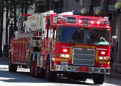 Seattle Fire Department/L1 (zargoman) Tags: seattle water truck fire smoke police hose burning emergency firefighter department firefighters response dispatch