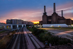 Battersea Power Station at Sunset - Explore (AlPie) Tags: light sunset sky london station power dusk iso400 sony landmark explore 16mm battersea f11 a77 explored dt1650mmf28ssm slta77v