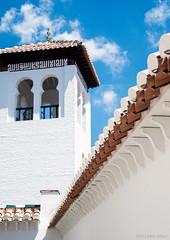 white tower (OR_U) Tags: blue roof sky white tower spain geometry granada oru 2013