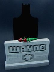 Visiting the Folks (cmaddison) Tags: flower rose lego headstone tombstone batman gravestone darkknight brucewayne