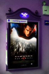 Man of Steel - New Superman Billboard theater Poster  0153 (Brechtbug) Tags: street new york city nyc man building tower clock work dark comics painting movie poster book evening dc paint theater comic near steel character alien bat working broadway superman billboard advertisement adventure hero superhero billboards knight worker gotham 34th paramount krypton 2013