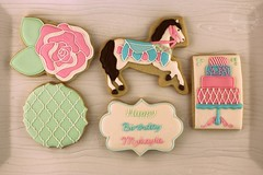 IMG_0729 (Artfully Delicious Cookies) Tags: cookies vintage pony soiree decorated