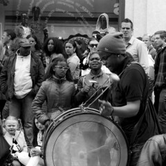 Percussion (Bart_T) Tags: street white black holland netherlands dutch square photography day percussion band queens busy drummer brass