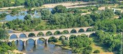 The bridges at Bastide from Sampzon (Jeaunse23) Tags: france ardeche sampzon