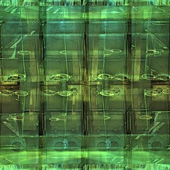 Glass Door Composite (unclebobjim) Tags: abstract green glass square doors eurostar stpancras squarecrop cremedelacreme quadrado hdrcomposite squareplace 3exhdr greatphotopro