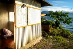 Praying Muslim, Lake Maninjau (grey garden) Tags: lake sumatra indonesia muslim islam bukittinggi danau maninjau shalat westsumatra