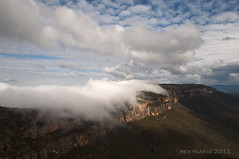 Phantom falls (benpearse) Tags: blue mist mountains fog clouds ben july australia falls valley nsw phantom katoomba megalong pearse 2013