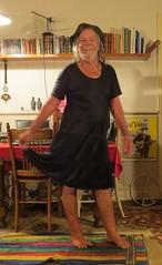 Wet short black knit. (Jack Williams) Tags: wet freestyle dress auckland dresses wetlook frocks frolics menindresses mandress wetguy
