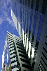 Glass Castles (gecko47) Tags: glass lines vertical buildings reflections brisbane highrise queensland cbd oblique edisonlane