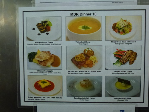 MDR Day ten menu