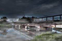 Bridge in Fog (x0allie) Tags: bridge traintracks foggy surreal stormy creepy spooky sullen hdr