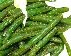 Buttered String Beans (floralgal) Tags: food green vegetables dinner meal geenbeens