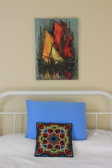 Luc Verger (breareye) Tags: abstract modern century painting boats bedroom artist retro pillow mid icelandic lucverger