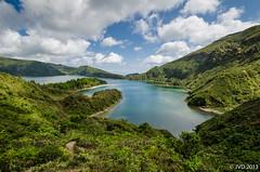 Lagoa do Fogo (JoeyCrazy) Tags: mountain lake clouds landscape crater azores saomiguel lagoadofogo