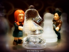 The Doctor & Amy Playing Chess