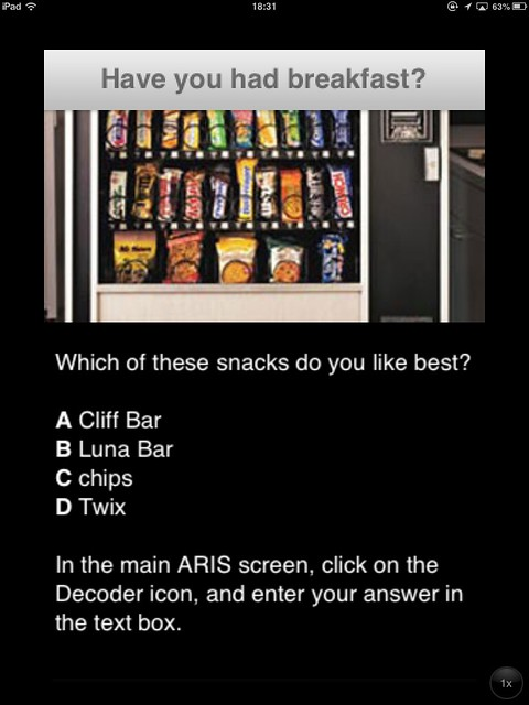 The vending machine quest