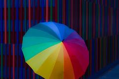 Colour Stripes (Traveller_40) Tags: rain museum umbrella colorful explore rainy photowalk farbe pwm regenschirm scottkelby brandhorst museumbrandhorst scottkelbywalk wwpw photowalkingmunich butnt wwpw2013