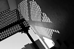 light and shadow. (dangrahamphotography) Tags: light shadow blackandwhite bw white black geometric dark pattern walk shapes blackwhitephotos bwartaward blinkagain dangrahamphotography wwwdangrahamphotographycom dangrahamphotographycom
