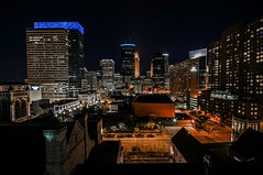 Minneapolis Blue (Doug Wallick) Tags: blue tower church westminster minnesota skyline night hotel hall sony hilton minneapolis steeple orchestra target wellsfargo att lightroom ids capella a55 claer mygearandme mygearandmepremium mygearandmebronze mygearandmesilver
