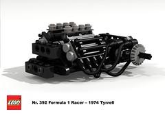Lego Nr. 392 - 1974 Tyrrell Cosworth V8 F1 Engine (lego911) Tags: auto birthday classic car one 1974 model lego engine f1 hobby formulaone 1970s formula1 72 challenge v8 6th racer cosworth 392 tyrrell moc powertrain scheckter miniland foitsop lego911 lugnuts6thanniversary ugnuts