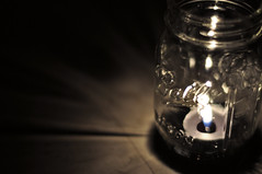 Life's a Ball (robertsnelson94) Tags: light shadow candle mason jar