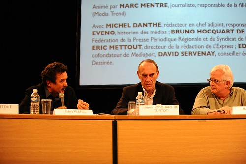 Edwy Plenel (Mediapart), Bruno Hocquart de Turtot (SPHR FPPR) et Marc Mentré - Comment financer l'information ?