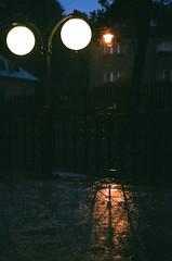 Rainy Night (Toffee Maky) Tags: street slr film water rain vertical night analog 35mm grain pentaxk1000 analogue fujisuperia800 analogslr smcpentaxm1250mm czechcountryside polika fujifilms toffeemaky