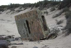 Pill Box (Sandy Beach Cat) Tags: uk autumn scotland sand war ww2 lothian pillbox infocus highquality tyneinghamme beachruin