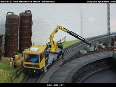 Robel Bullok BAMOWAG 54.22 Track Maintenance Vehicle - DB Bahnbau Kibri 16100 Modelismo Ferroviario Model Trains Modelleisenbahn modelisme ferroviaire ferromodelismo (AyalaBotto Model Trains) Tags: scale tren trenes spur track crane trains db class type scala machines 187 grua railways serie classe modelleisenbahn echelle tipo modeltrains binari treni escala robel modellbahn palfinger viessmann draisine h0 modelrailways 5422 trackvehicle bullok railservice maintenancevehicle plassertheurer railwaymaintenance modelismoferroviario maintenancework modellismoferroviario dresina trainminiature trainequipment niederbordwagen modelismeferroviaire dienstfahrzeuge dbbahnbau gleiskraftwagen ayalabotto manutencaovia veicolipermanutenzioneferroviaria draisinedechantier vehiculedetravail dresinatractora vehiculodresinatractor kibri16100 ferromodelismogauge bamowag