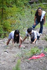 Sulphur Mountain Trail Cutters 1 (pokoroto) Tags: summer people mountain canada august trail alberta banff sulphur 8 cutters  hachigatsu   hazuki 2013   leafmonth 25
