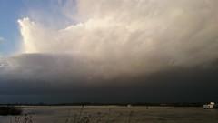 Onweersbui in aantocht 3-1-2014 (Walter van Ooijen) Tags: winter sky cloud holland water rain clouds river day sony nederland thunderstorm lightning regen waal gelderland onweer brakel rivier experia januarie nederlandvandaag