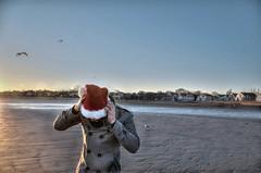 Winter Peace (7Neretva) Tags: santa christmas new winter england beach hat birds boston ma nikon coat north newyear shore swampscott