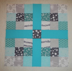 Stash Bee Hive #8 January Block (Tami's Tiki Hut) Tags: quilting 9patch quiltingbee
