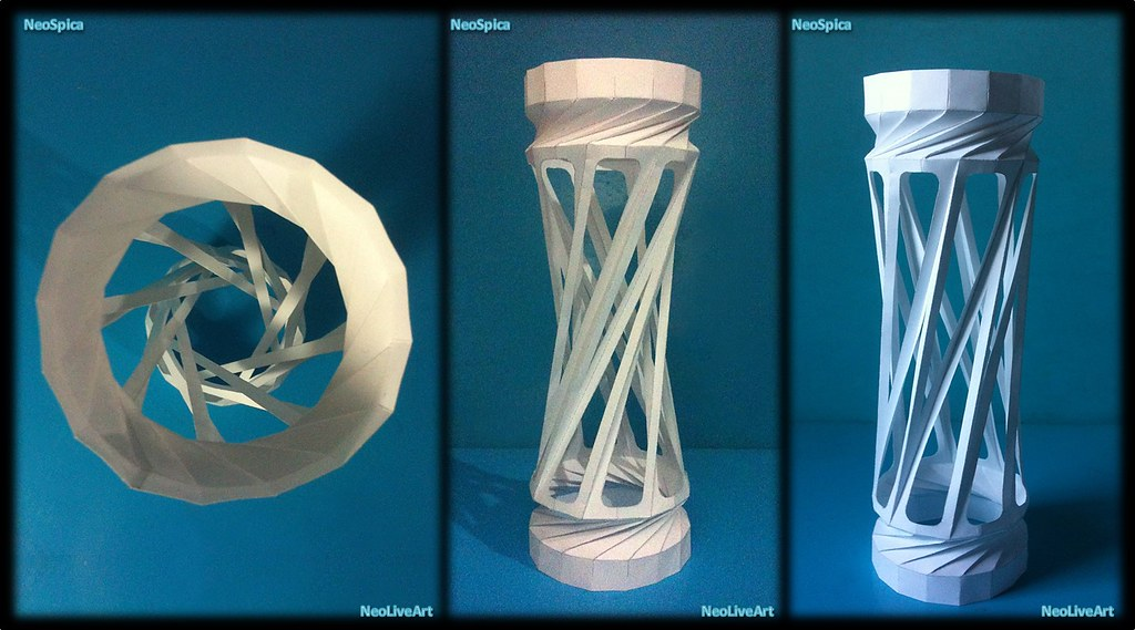 how to make a spiral lantern
