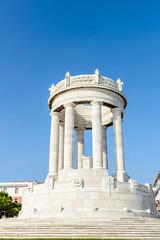 Monumento ai caduti, Ancona (MikePScott) Tags: camera sky italy monument lens italia columns marche ancona lemarche builtenvironment architecturalfeatures nikon2470mmf28 nikond800 featureslandmarks