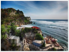 Blue point, Bali (yanwym) Tags: ocean travel sea bali cliff tourism indonesia cafe bluepoint