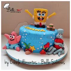 Bob Esponja, cala quadrada! (Belle Sabores) Tags: cake mar do patrick bob pasta americana lula bolo esponja fundo molusco