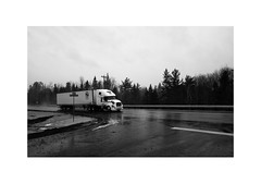 Halver Line on Beck's Road (Richard C. Johnson: AKA fishwrapcomix) Tags: bw minnesota truck blackwhite midwest decay decline duluth 18mm endofempire sunrisesintheeast sunsetsinthewest fujixpro1 paxamericanus