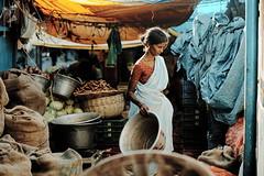 * (Gwenaël Piaser) Tags: blue woman india backlight canon eos prime reflex market gimp 85mm bleu usm february fullframe 10000 saree marché canoneos sari contrejour inde pondicherry 6d 2014 85mmf18 pondichéry 24x36 ef85mm ef85mmf18usm canonef85mmf18usm ef85mmusm eos6d goubert puducherry rawtherapee புதுச்சேரி பாண்டிச்சேரி unlimitedphotos canonef85mm118usm goubertmarket canoneos6d gwenaelpiaser
