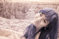 Jin_20140504__065 (falconn67) Tags: park trees portrait woman girl smile boston skyline canon woods infrared waltham 30d prospecthill 1740l prospecthillpark