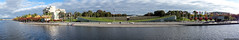Lake foreshore w. High Court and National Library (sbyrnedotcom) Tags: panorama australia canberra act highcourt nationallibrary 2014 lakeburleygriffin rx100